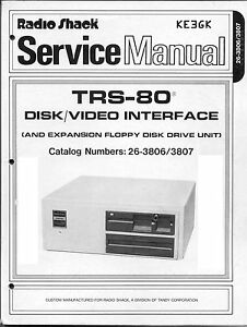 Radio Shack TRS-80 Disk & Video Interface Service Manual * PDF * CDROM