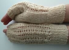 Wool blend wrist warmers fingerless gloves handknitted handmade New Gift
