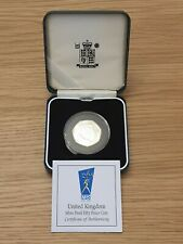 Royal Mint 1998 50 Years Of The NHS Silver Proof  50p COA Case