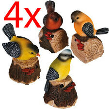 4 X MOTION SENSOR BIRD ORNAMENT BIRDS ANIMAL SOUND TWEET GARDEN FIGURINE VOICE