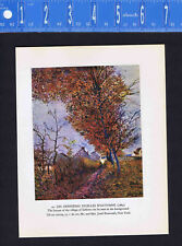 Sisley Landscape: The Last Autumn Leaves - Village of Sablons - Color Lithograph