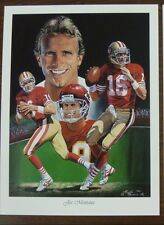 Joe Montana 18x24 Dual Sided Lithograph by Angelo Marino