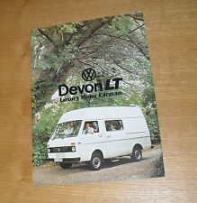 Volkswagen VW Devon LT Luxury Motorhome Flyer Brochure 1976-1977
