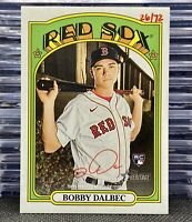 🔥2021 Topps Heritage Bobby Dalbec Rookie🔴Auto✍️26/72 SSP Red Sox RC