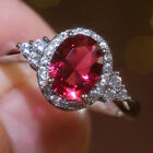 Fashion 925 Silver Women Rings 10 Style Cubic Zircon Wedding Jewelry Size 6-10