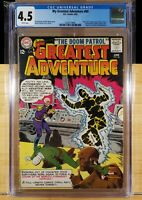 MY GREATEST ADVENTURE 80 CGC 4.5 WHITE PAGES 1ST DOOM PATROL 1963 HIT TV SERIES