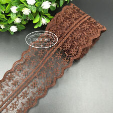 HB001O 12 Yard Bilateral Handicrafts Embroidered Net Lace Trim Ribbon wholesale