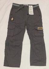 New Tu Boys Grey Cargo Trousers 4-5 Years