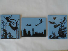 Peter Pan Neverland Hand Painted Canvas Wall Hanging / Wall Art Set of 3