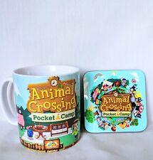 Animal Crossing - Pocket Camp - Nintendo Game - Coffee MUG CUP + Wooden Coaster