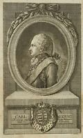 C. MÜLLER, Carl August zu Weimar-Sachsen-Eisenach, 1786/1796, Punktiermanier