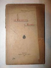 Guido Leati: Di Giulietta e Romeo 1897 Spoleto tip. Umbria critica letteraria