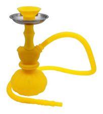 Narguilé Jaune de silicone et de Portable vase d'eau vente chicha fumer