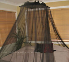 Resort Style Modern Bedroom Canopy Black Mosquito Net Fits all Beds Massive Sale