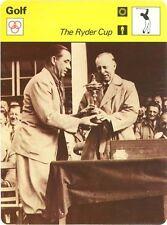 WALTER HAGEN 1978 Sportscaster card #41-09 The Ryder Cup
