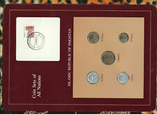 Coin Sets of All Nations Pakistan 1 Rupee 25,10,5 Paisa 1988 50 Paisa 1987 UNC