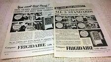 FRIGIDAIRE REFRIGERATORS - TWO Vintage Original 1930s ADVERTISEMENTS. Free Post
