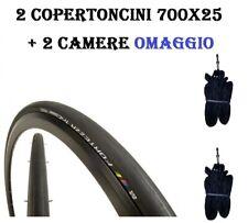 2 Copertoncini 700x25 Bici Corsa Vredestein Fortezza Tricomp Pieghevole 120tpi
