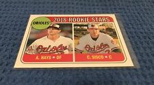 A. Hays/C. Sisco 2018 Topps Heritage Orioles Rookie Stars Card #66