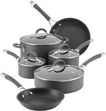New Circulon Radiance 10-piece Cookware Set Hard-Anodized Aluminum Nonstick Gray