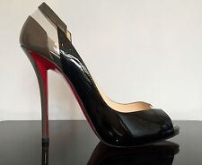 Christian Louboutin Patent Leather Peep Toes Stiletto Women's Shoes