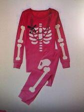 GYMBOREE NWT Adult Mom Gymmies 2PC Pajamas Skeleton Glow in the Dark HALLOWEEN L