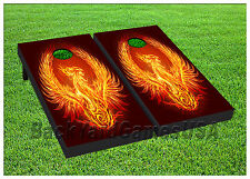 VINYL WRAPS Cornhole Boards DECALS Flame Eagle Bag Toss Game Stickers 642