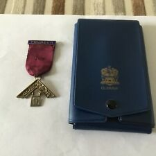 More details for silver masonic past master's jewel ,with case