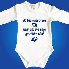 Jacky Babybody Baby Body mit Spruch Schlafen - Unterwäsche Strampler Papa Mama