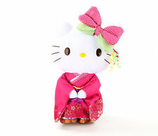 "Sanrio Hello Kitty 10"" Standing Japanese Doll Pink Geisha Plush: Kimono"