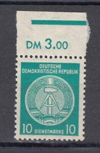 DDR, Dienstmarken, 10 Pfg., MiNr. 30y II mit WZ x II, postfr., gepr. Paul BPP