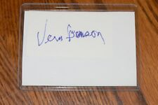 Vern Benson Athletics, Cardinals signed Cut Autograph