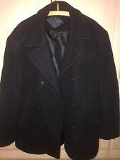 Gloverall Duffel Mens Coat Vintage Size M Dark Blue Collar Button Up Jacket