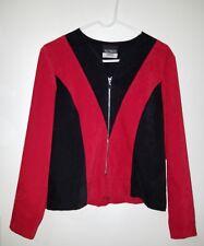 Suzannah James Red Black Blazer Suit Jacket Full Zip Ladies Womens Small Career