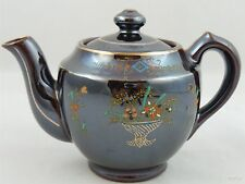Mini Brown Iridescent Hand Painted Tea Pot