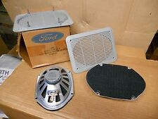 NOS 80's Ford Mustang 2 Speaker Kit Dual 5x7 Speakers with Gray Grille 3.2 Ohms
