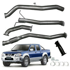 "NISSAN NAVARA D22 2003-07 TD 3L 3""INCH TURBO BACK EXHAUST NO CAT / PIPE SILVER"