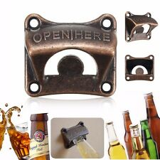 Bronze Vintage Rustic Collectable Wall Mounted Beer Bottle Opener Bar Club Soda