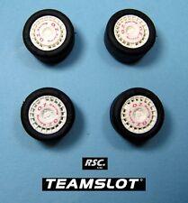 TEAM SLOT 1:32 OZ RACING 4 WHEELS + 4 SLICK TIRES 18 X 10 MM  - LLANTAS