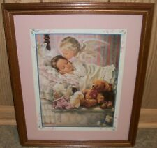 Home Interiors Homco Girl in Bed Angel Kissing Girl Toy Box Teddy Bear Picture!
