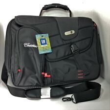 """Cadillac Branded Black Commotion Messenger Bag For 17"""" Laptop Or Carry-On By FuL"""