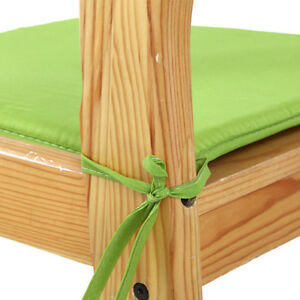 Waterproof Chair Cushion Seat Pads Removable Cover Tie On Garden Outdoor Patio