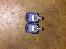 Tubular Lock Keys T-001 Blue for 1800 Candy Machines, 1-800 Vending LOT OF 2!!