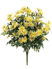 "6 Artificial 24"" Farmhouse Daisy Bush Yellow Silk Flower Bouquet Wedding Decor"