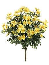 "6 Artificial 24"" Farmhouse Daisy Bush Yellow Silk Flower Bouquet Wedding Decor"
