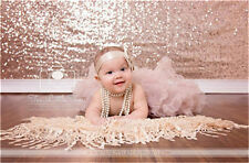 Elegent Sequin Backdrop 5ft*6ft Rose Gold Glitz Wedding Swag Photo Booth Curtain