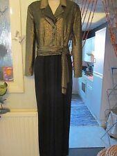 vintage austin reed gold/black lurex art deco collared evening jumpsuit size 12