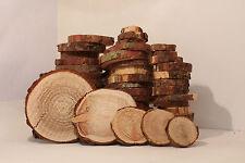 50Stk 2-10 cm Restposten Holzscheiben Astscheiben Baumscheiben Lärche Floristik