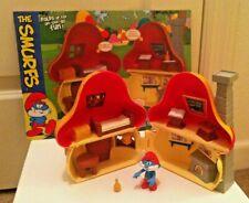 The Smurfs Papa Smurf's Mushroom House w/Accessories New RARE RETIRED Jakks Toys