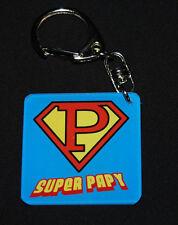 Porte-clés SUPER PAPY (modele 2) a offrir pour la fete des grands-peres
